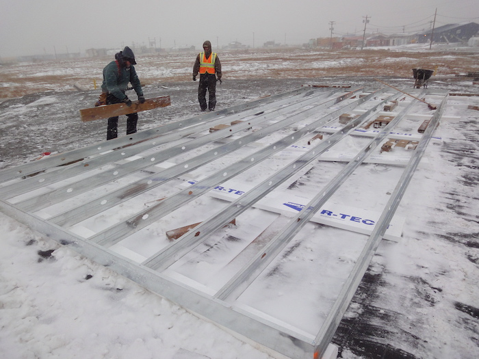 Figure 3. CCHRC partnered with the Yup'ik community of Quinhagak in 2010 to build a super-insulated home that could withstand the cold, wet climate of the Bering Sea Village. Photo Courtesy of CCHRC.