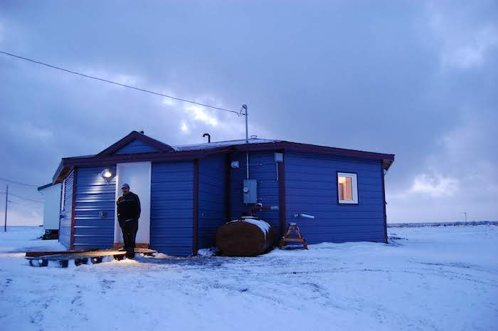 Figure 4. The octagon-shaped home in Quinhagak was based on the traditional round design of winter shelters built by the local people. Photo Courtesy of CCHRC.