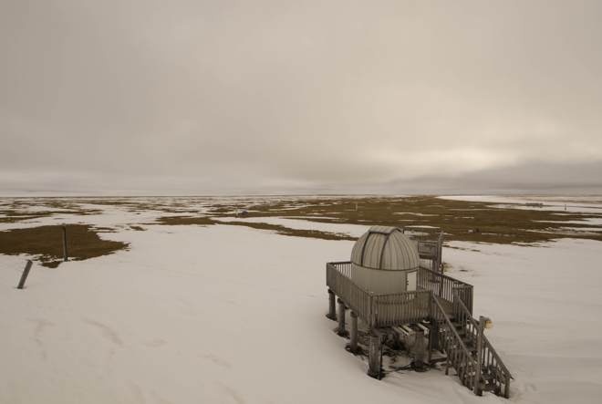 The National Oceanic and Atmospheric Administration's (NOAA) Barrow Observatory in Utqiagvik is one of several research facilities used by federal agencies in Alaska's Arctic. The Interagency Arctic Research Policy Committee is working on revised guidelines for those agencies. Photo courtesy of NOAA.
