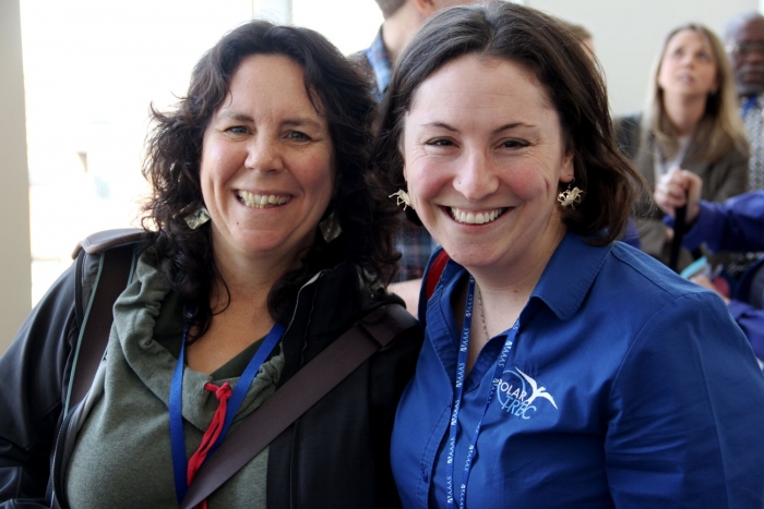 Janet Warburton (left) and Sarah Bartholow (right), the Education Project Managers at the Arctic Research Consortium of the United States, manage the PolarTREC program and provide ongoing support to the teachers and researchers.