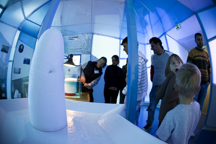 The cold room is one of the attractions at the Arktikum Science Centre. Photo courtesy of Jani Kärppä.