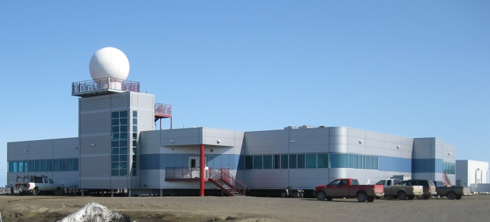The Barrow Arctic Research Center (BARC) is the hub of daily operations for UIC Science and also provides laboratory and meeting space for researchers. Photo courtesy of Karl Newyear.