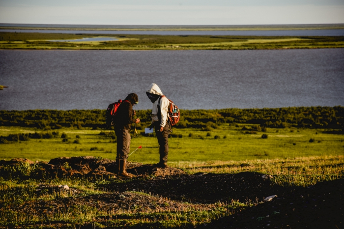By studying chemical and biological changes to the Arctic environment, WHRC scientists are able to understand how trends of change in the Arctic may affect the stores of permafrost that lie beneath its surface. Photo courtesy of John Schade.
