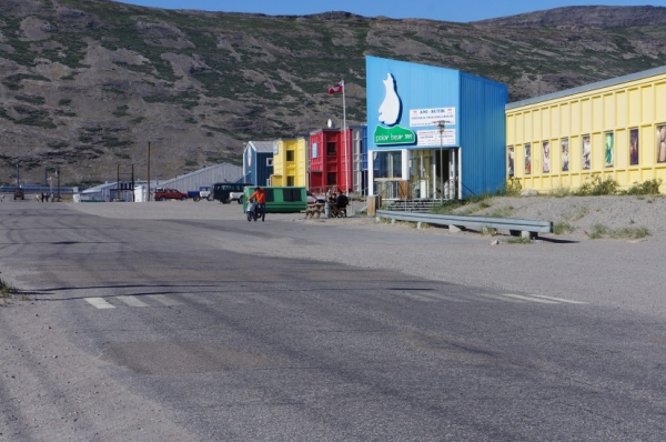 Busy street in Kangerlussuaq - dormitories, hotel, and restaurant  (photo credit: Bo Christensen)