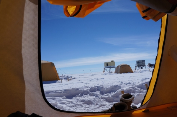 View from inside the tent (photo credit: Bo Christensen)