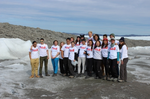 Kangerlussuaq Science Field School participants gather at Point 660, Greenland.