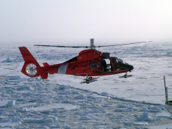 One of the USCGC Healy's helicopters.