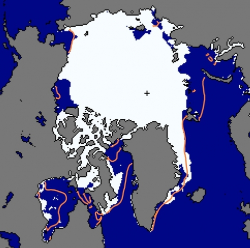 Figure 4. Sea ice extent for 5 July 2012.