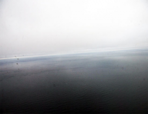 Photo of the ocean taken near the sea ice edge on this flight.