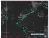 Update on Landfast ice between Wales and Shishmaref Skies cleared over Wales