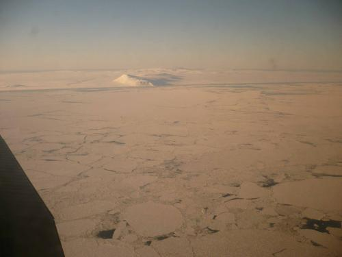 11 March 2011 aerial photo of sea ice north of Savoonga