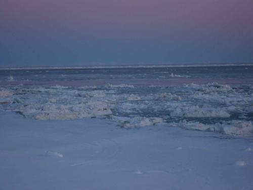 11 March 2011 photo of Gambell shore ice