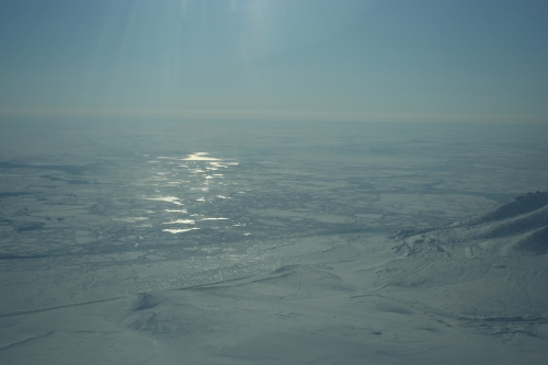 Ice pack southeast of Bering Strait