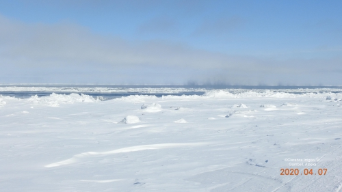 Nearshore ice conditions in Gambell - view 2.
