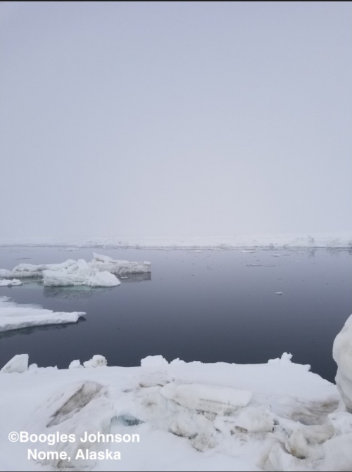 Ice conditions near Nome.