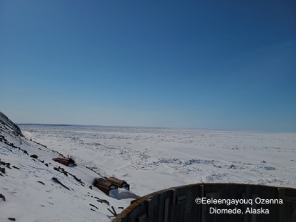 Ice conditions in Diomede - view 1.