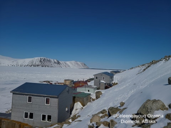 Ice conditions in Diomede - view 2.