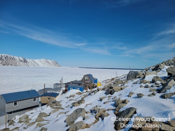 Sea ice conditions in Diomede - view 2.