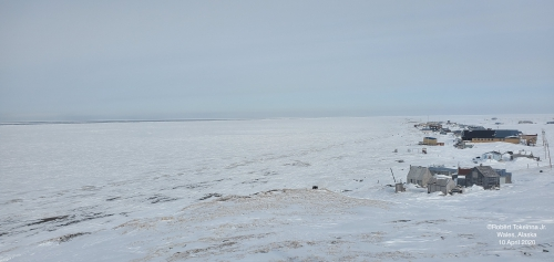 Nearshore ice conditions near Wales - view 3.