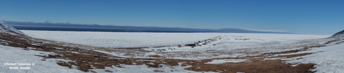 Nearshore ice conditions in Wales panorama.