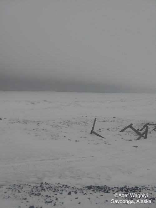 Nearshore ice conditions in Savoonga - view 2.