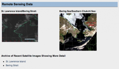 Satellite imagery from the SIWO website.
