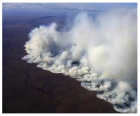 The Anaktuvuk River tundra fire, August 2007. Photo courtesy: Arctic Long Term E