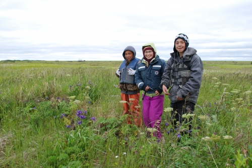 Emmonak youth on the tundra