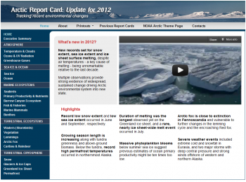 The 2012 Arctic Report Card Website