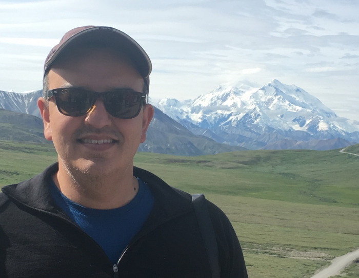 Roberto Delgado in Denali National Park, Alaska.  Photo courtesy of Delgado.