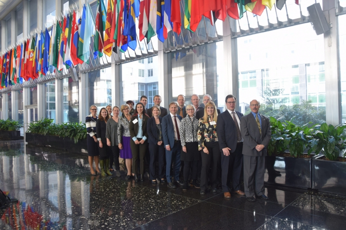 Members of the first Fulbright Arctic Initiative gathered for Fulbright Arctic Week in Washington, D.C., October 2016, for policy meetings and public events, including a capstone symposium showcasing the results of the Fulbright Arctic Scholars' research and collaborations. Photo courtesy of the Fulbright Program.