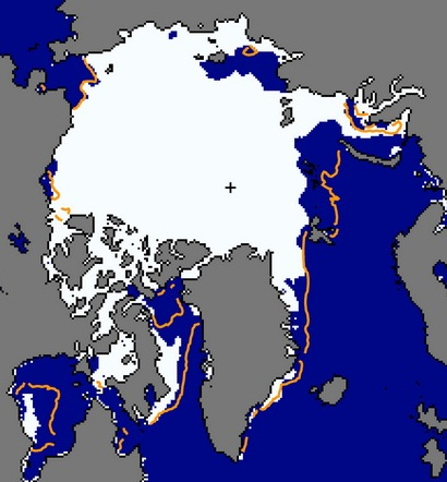 Figure 5. Sea ice extent for 10 July 2013.