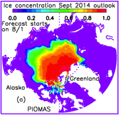September sea ice concentration map from Zhang and Lindsay's August SIO