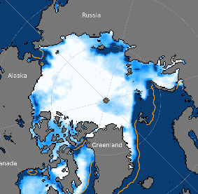 Figure 7. Sea Ice concentration for 18 June 2018.  (NSIDC)