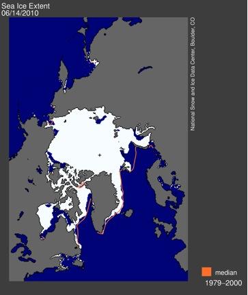Sea Ice Extent June 2010