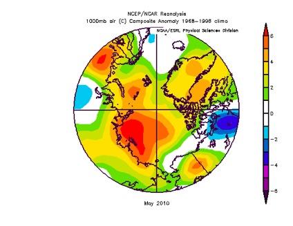 Near Surface Air Temperature Anomalies