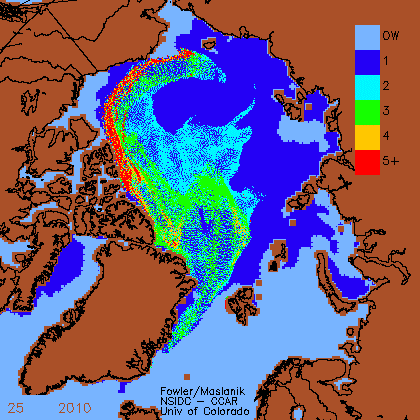 Ice age (in years) for 21 June 2010