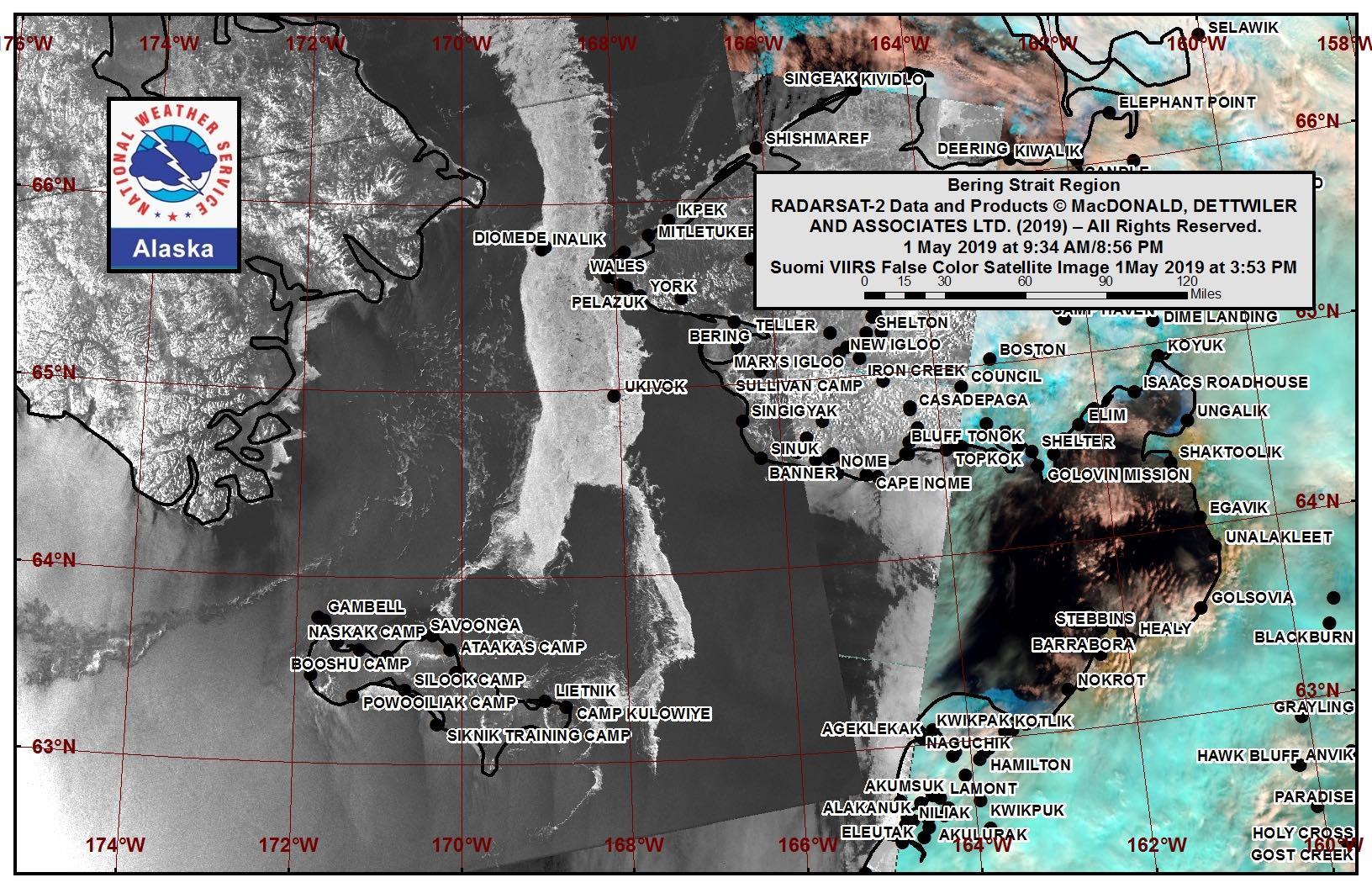 Bering Strait Satellite Image