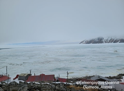 Sea ice conditions in Diomede on 12 May 2020 - view 1.