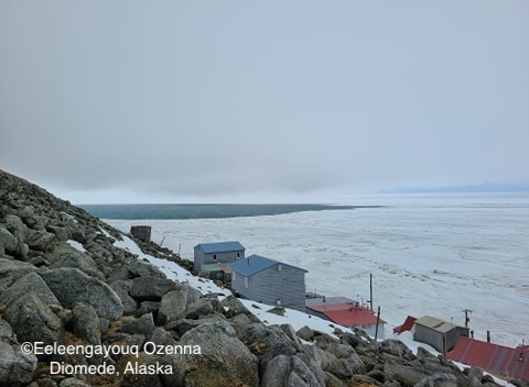 Sea ice conditions in Diomede on 12 May 2020 - view 2.