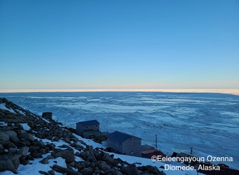 Sea ice conditions in Diomede on 10 May 2020 - view 1.