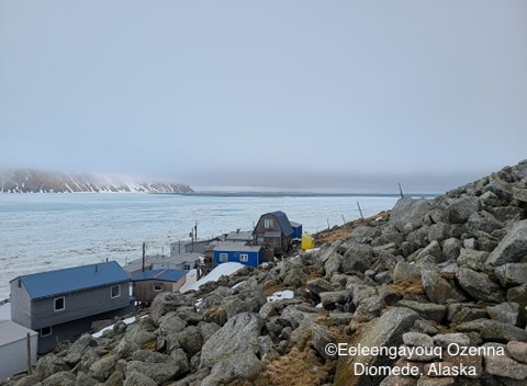 Sea ice conditions in Diomede on 12 May 2020 - view 3.