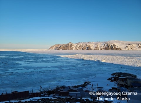 Sea ice conditions in Diomede on 10 May 2020 - view 2.