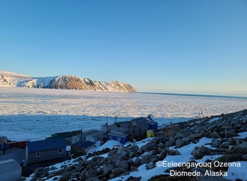 Sea ice conditions in Diomede on 10 May 2020 - view 3.