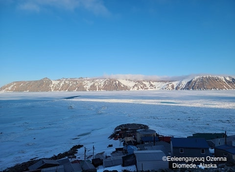 Sea ice conditions in Diomede on 15 May 2020 - view 1.