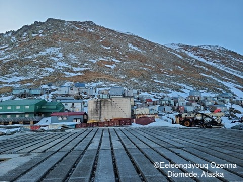 Snow melting in Diomede.