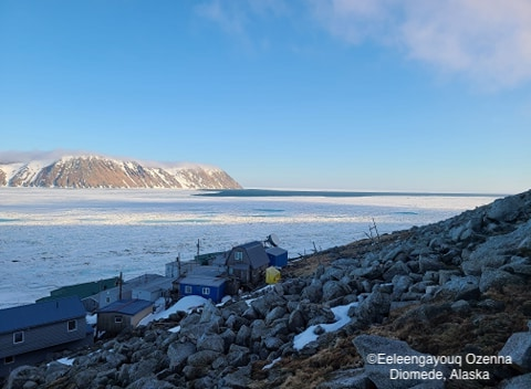 Sea ice conditions in Diomede on 15 May 2020 - view 2.