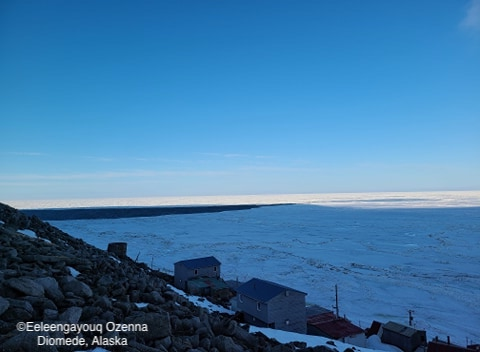 Sea ice conditions in Diomede on 15 May 2020 - view 3.