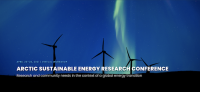 Figure 1. Arctic Sustainable Energy Research Conference logo. Image courtesy of USARC.