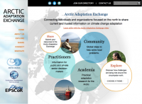 Screenshot of the Arctic Adaptation website.